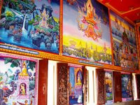 Interior paintings, Wat Sapam