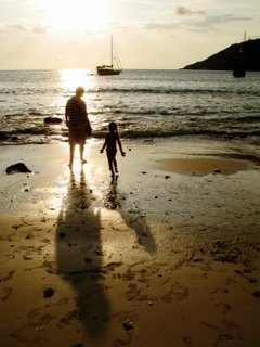 Me and my daughter in Yanui beach - Photo by Bill and Paula Monk