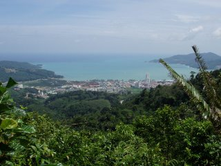 View of Patong from the hill