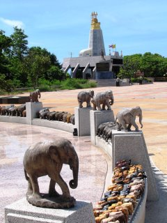 Elephant shrine looking towards the lighthouse