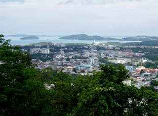 View over Phuket Town from Rang Hill