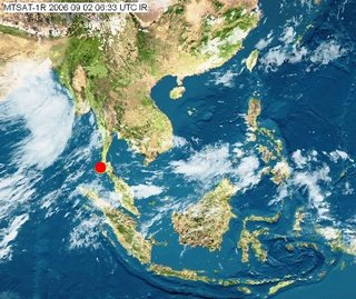 Satellite Photo, 2nd September - Phuket is the red dot