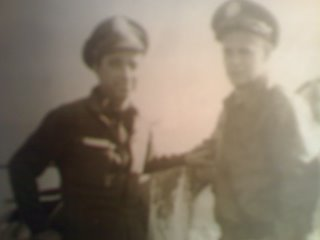 Harry Lee (on left) taken in October 1944