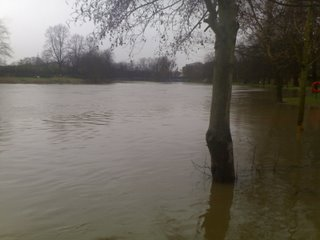 The Ouse, York, in flood