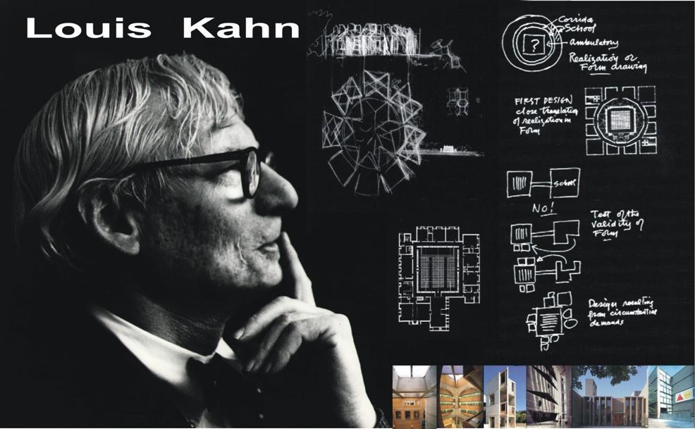 reportes de arquitectura conversaci n vi louis i kahn 1901 1974. Black Bedroom Furniture Sets. Home Design Ideas