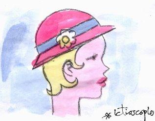 moça com chapeu