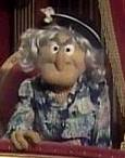 A grumpy old woman