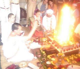 Momentos en que se inicia el fuego...ritual...mente