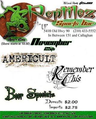 Americult and Remember This at Reptilez Sports Bar
