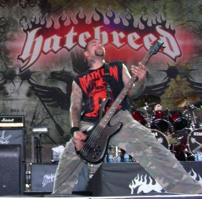 Chris Beattie with Hatebreed at Ozzfest