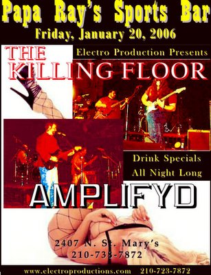 The Killing Floor and Amplifyd at Papa Rays