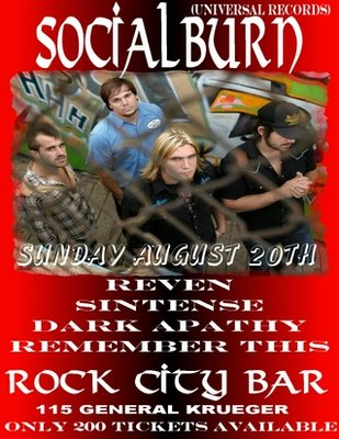 Socialburn at Rock City Bar