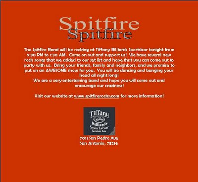 SpitFire at Tiffany Billiards