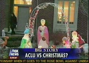 The ACLU wants to keep Jeebus off the lawn!