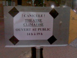 Air conditioned theater open 2:00 p.m. to