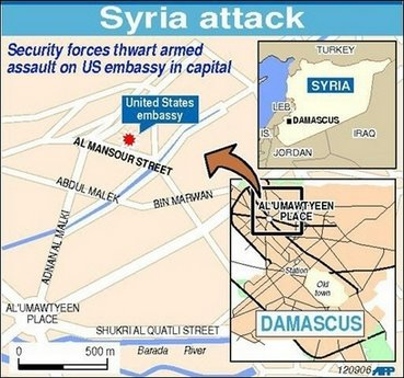 Oh Well A Commentary Four Killed In Attack Outside US Embassy - Us embassy attacks map