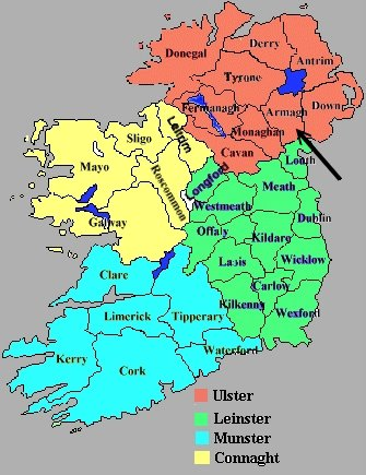 Map Of Ireland Showing Provinces Ireland Map - Ireland provinces map