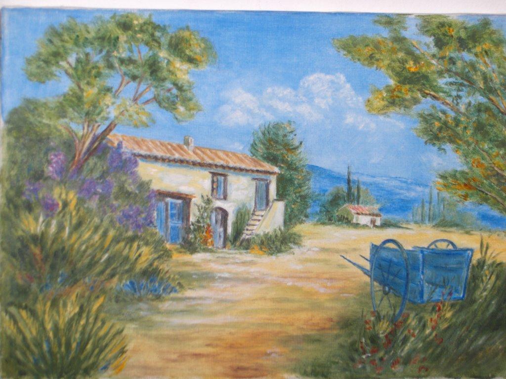 Sylvie peinture maison provencale - Peinture de maison ...