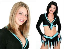 Blonde brunette cheerleader Lesbian