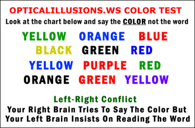 Colour test Illusion