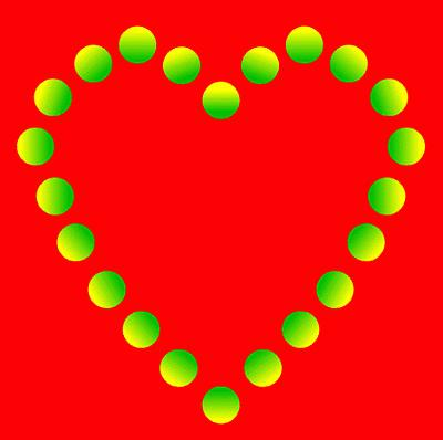 Romantic Glowing Heart Illusion
