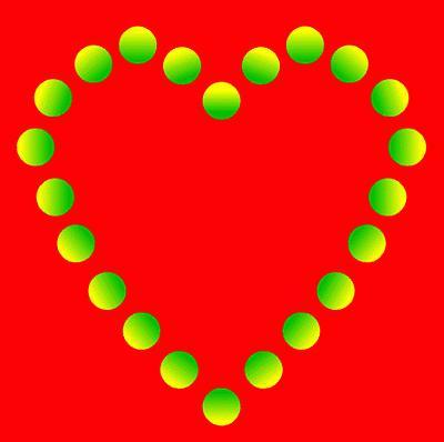 Romantic Glowing Heart Illusion