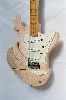 Fracturecaster Art Guitar
