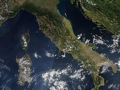 Mappa satellitare alterata