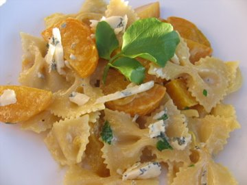 Albion Cooks: Farfalle with Golden Beets and Gorgonzola