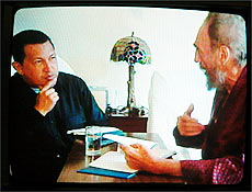 Chávez e Fidel, Folha