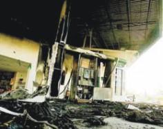 Posto destruído em São Paulo, Folha