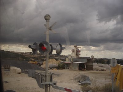 Clouds over entrance to Bet Shemesh