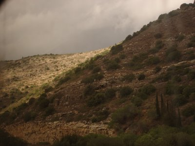 Overcast Jerusalem hills