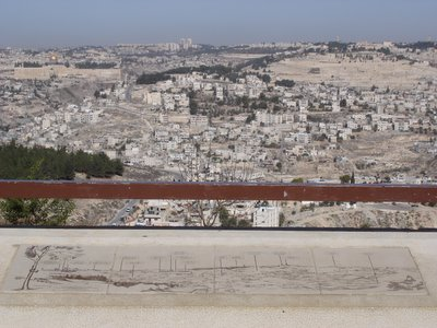 Jerusalem panorama with guide