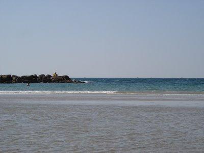 A sandbar at a Tel Aviv beach