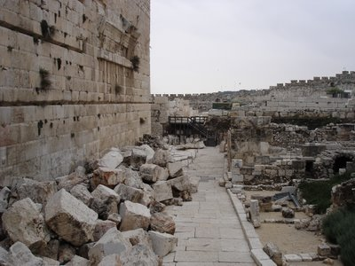 Temple ruins in Jerusalem's Old City