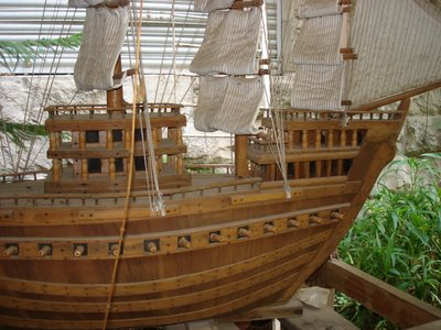 Wooden ship, right side