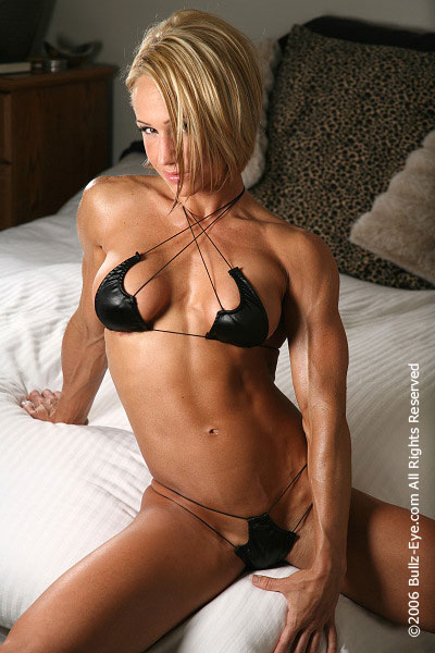 image Busty athletic lesbian scissors after workout