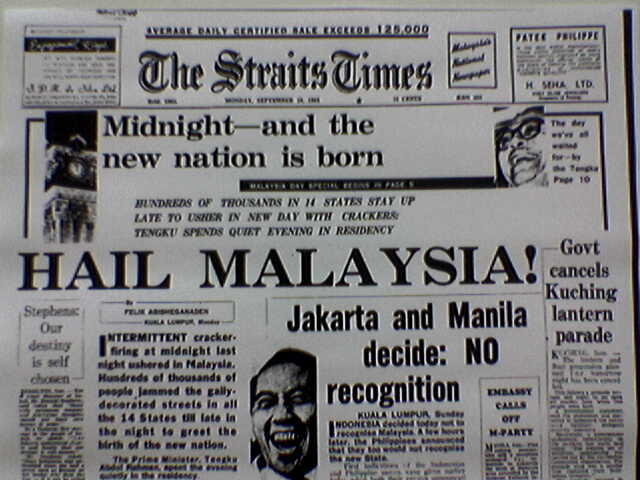 history of federation of malaya The federation of malaya achieved internal self-government in 1955 and independence in 1957  hardly ever a dull moment (history of development studies.