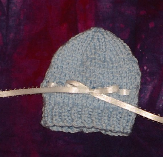 Knitting Increase Purlwise : Crafting for charity hat preemie boy outfit