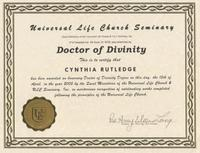 Dr. of Divinity Degree from ULC