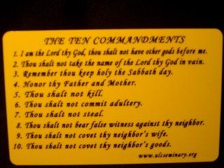 10 commandments - ULC Seminary