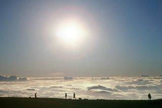 Silhouettes:  Haleakala, Maui, Sep. 2003