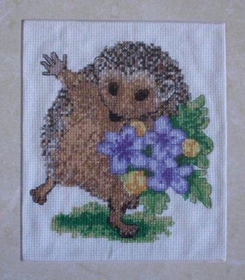My Hedgie cross-stitch