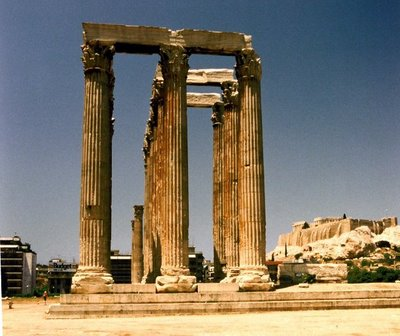 Temple of Olympian Zeus, Athens, June 1990
