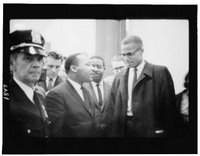 Martin Luther King and Malcolm X, Library of Congress, Prints and Photographs Division, [reproduction number, LC-USZ6-1847]