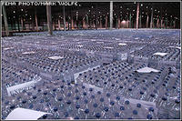 bottled water, stored at the FEMA Palmetto Regional Distribution Center, is to be distributed to affected states as need. FEMA is staging supplies in preparation of the second landfall of Hurricane Katrina. FEMA Photo/Mark Wolfe