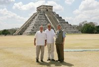 President George W. Bush, Mexico's President Vicente Fox and Canada's Prime Minister Stephen Harper, right, stand in front of the Chichen-Itza Archaeological Ruins Thursday, March 30, 2006. White House photo by Kimberlee Hewitt.