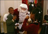 Santa Claus with Children, White House photo by Susan Sterner