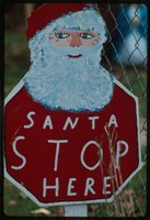 Christmas Santa Claus Sign, Tending the Commons: Folklife and Landscape in Southern West Virginia. American Folklife Center, Library of Congress